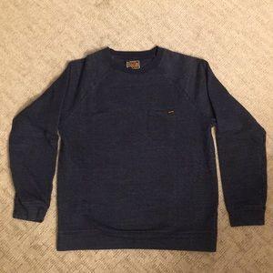 Volcom Blue Blarney Crew Fleece Sweatshirt LARGE